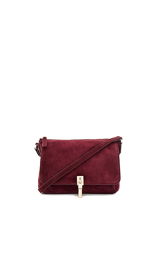 Elizabeth and James Cynnie Micro Crossbody Bag in Burgundy