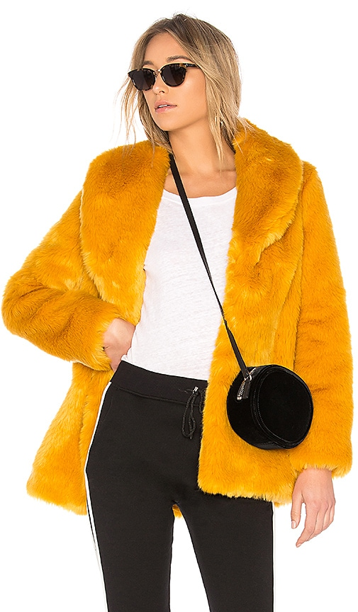 Gold Rush Faux Fur Coat