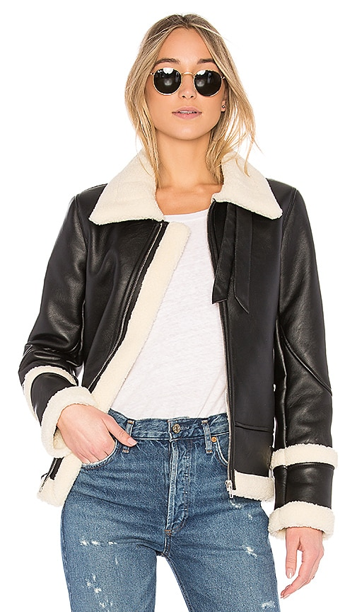 EAVES Piper Moto Jacket in Black