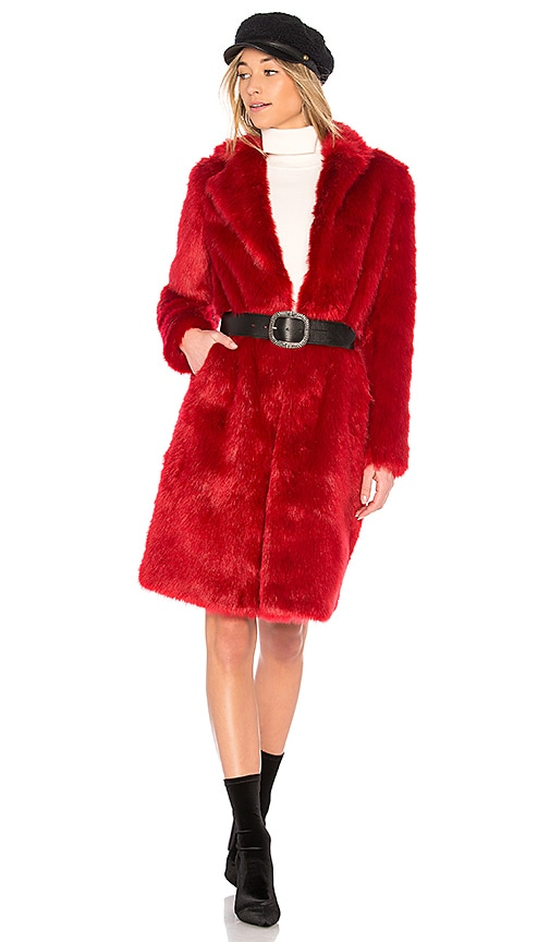 EAVES Audrey Coat in Red