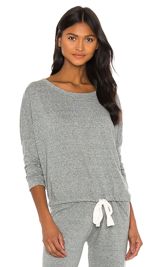 eberjey Heather Slouchy Tee in Light Gray