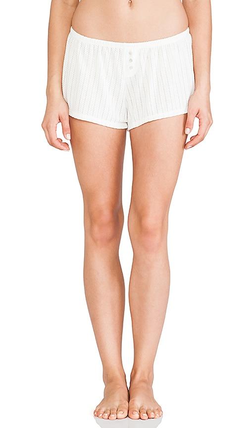 eberjey Baxter Shorts in Ivory