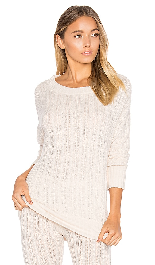 eberjey Elsa Long Sleeve Tee in Beige