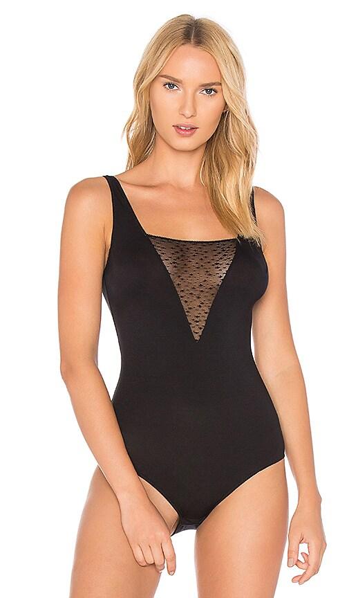 eberjey Greta Bodysuit in Black