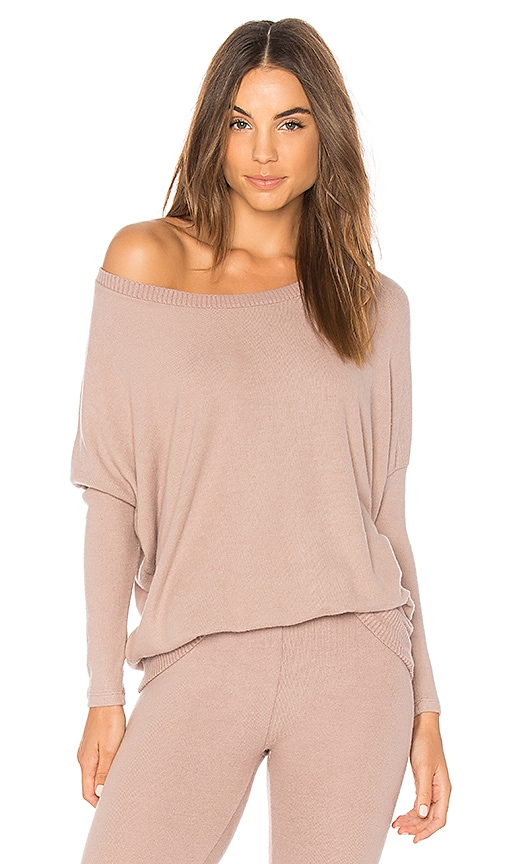 eberjey Cozy Time Slouchy Tee in Taupe