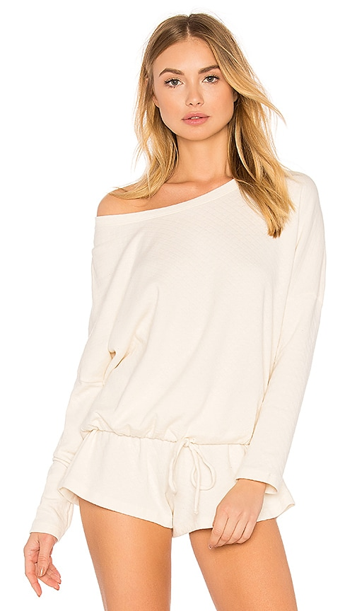 eberjey Bruna Slouchy Tee in White