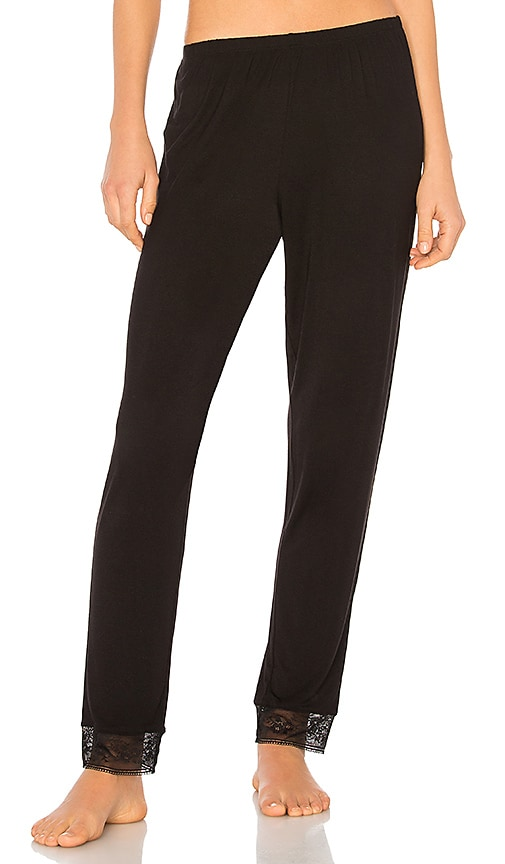 eberjey Adora Slim Pant in Black