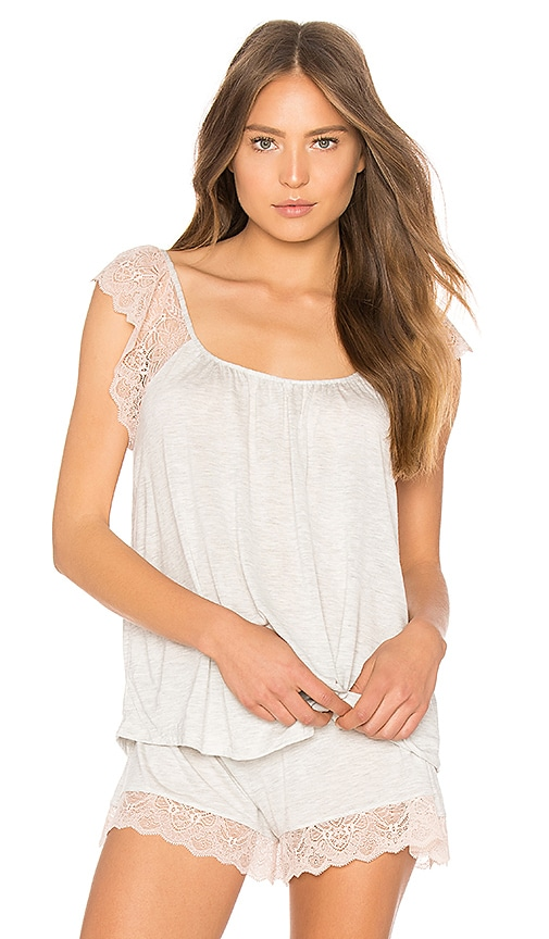 eberjey Emme the Nana Top in Light Gray