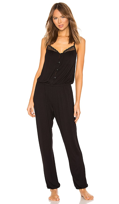 48f02d6f434 eberjey Lucie Button Down Jumpsuit in Black