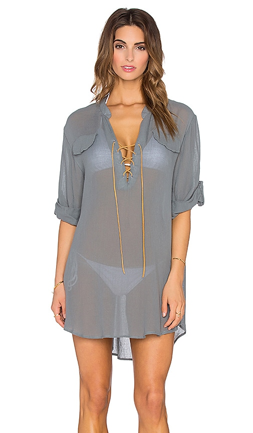 eberjey Summer Of Love Riley Cover Up in Sage Grey