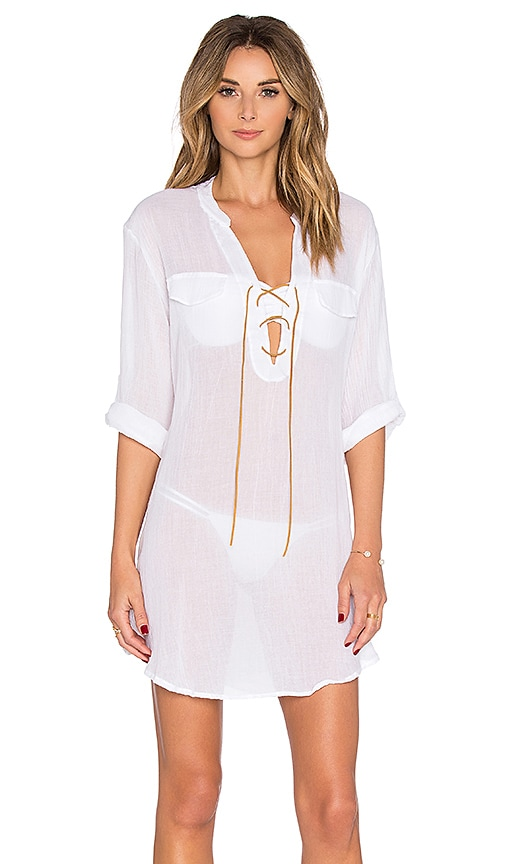 eberjey Summer Of Love Riley Cover Up in White