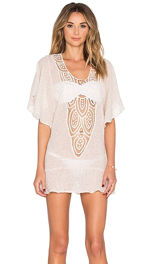 eberjey Sand Waves Malena Cover Up in Ivory