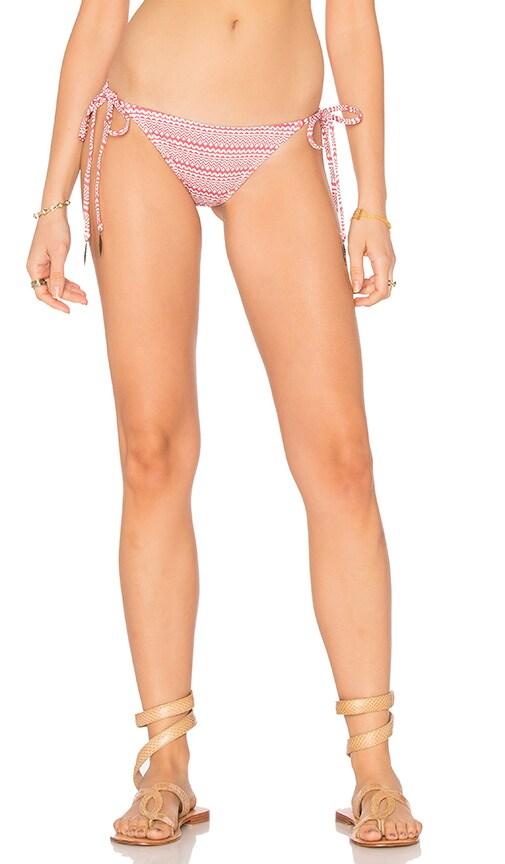 eberjey Cherokee Heart Eva Bikini Bottom in Red