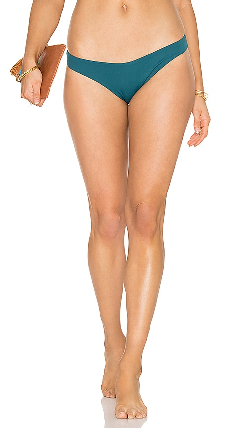 eberjey So Solid Annia Bikini Bottom in Green
