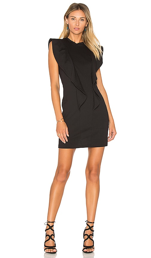 EDIT Ruffle Sleeve Dress in Black