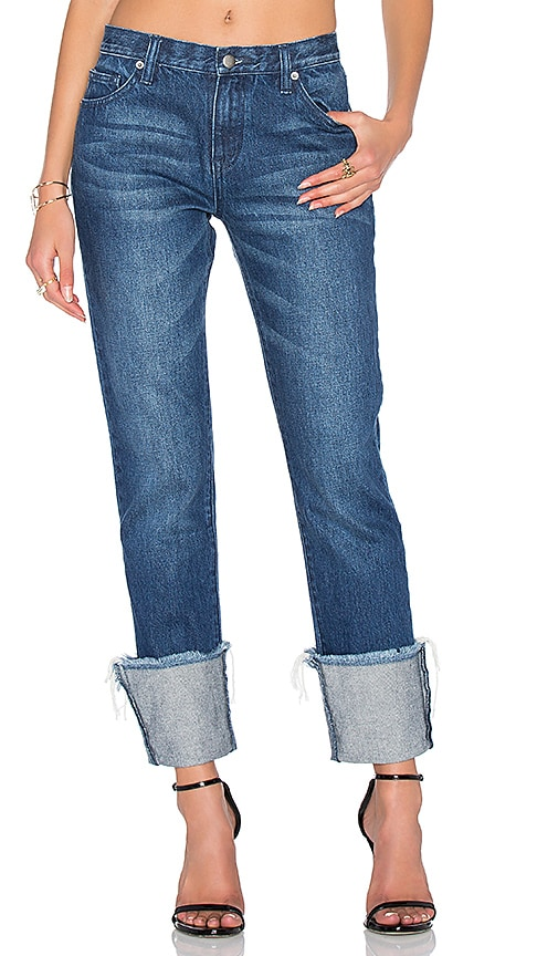 EDIT Turn Up Boyfriend Jean in Dark Wash