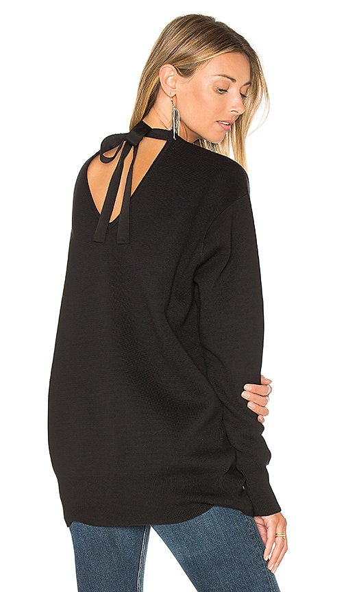 EDIT Tie Back Knit Sweater in Black