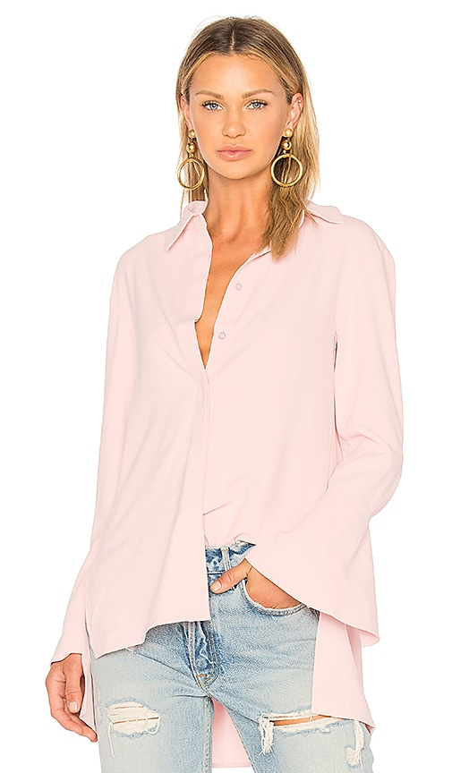 EDIT Shirt With Applique Back in Pink