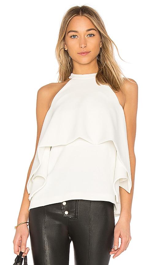 EDIT Kimono Split Sleeves Top in White