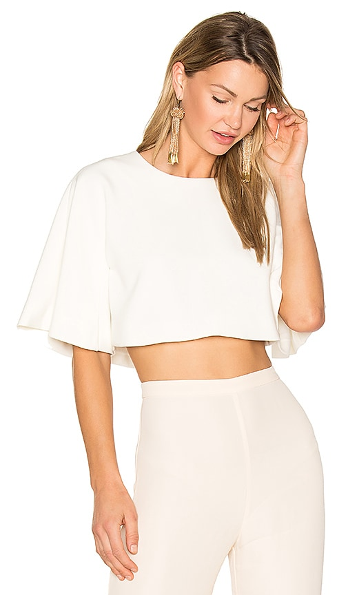 EDIT Flute Sleeve Top in White