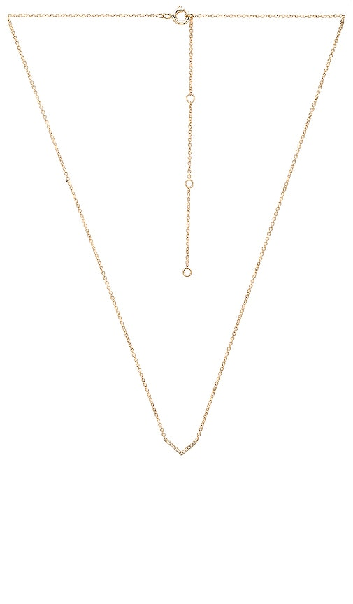 EF COLLECTION Mini Chevron Necklace in Metallic Gold