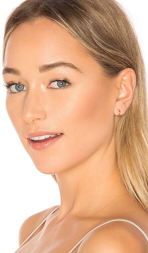 EF COLLECTION Mini Huggie Earring in Metallic Gold