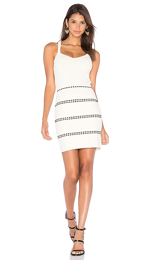 EGREY Cat Stitch Sleeveless Dress in Ivory
