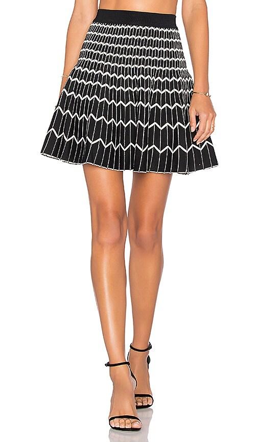 EGREY Zig Zag Reversible Skirt in White