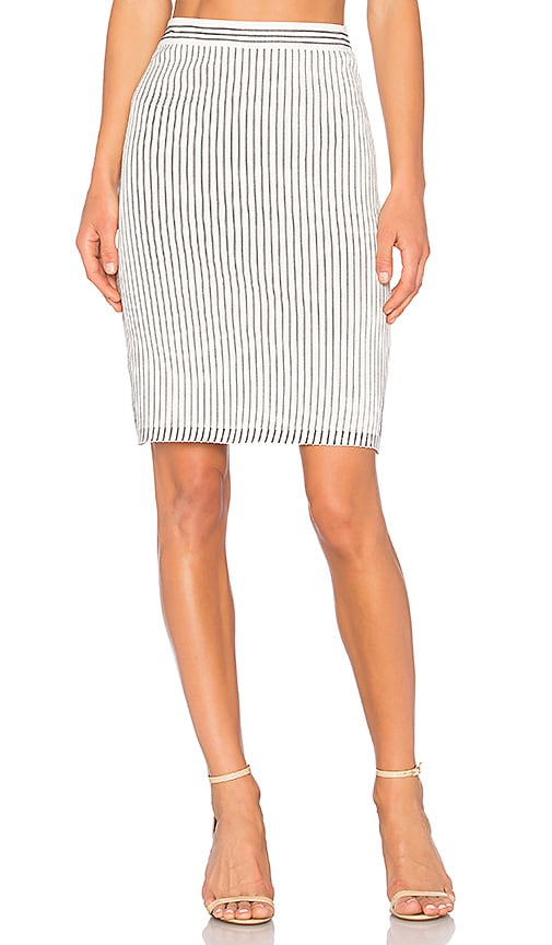 EGREY Striped Skirt in White