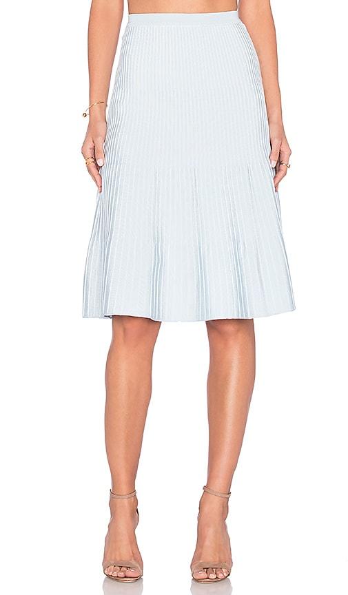 EGREY Ribbed Midi Skirt in Baby Blue