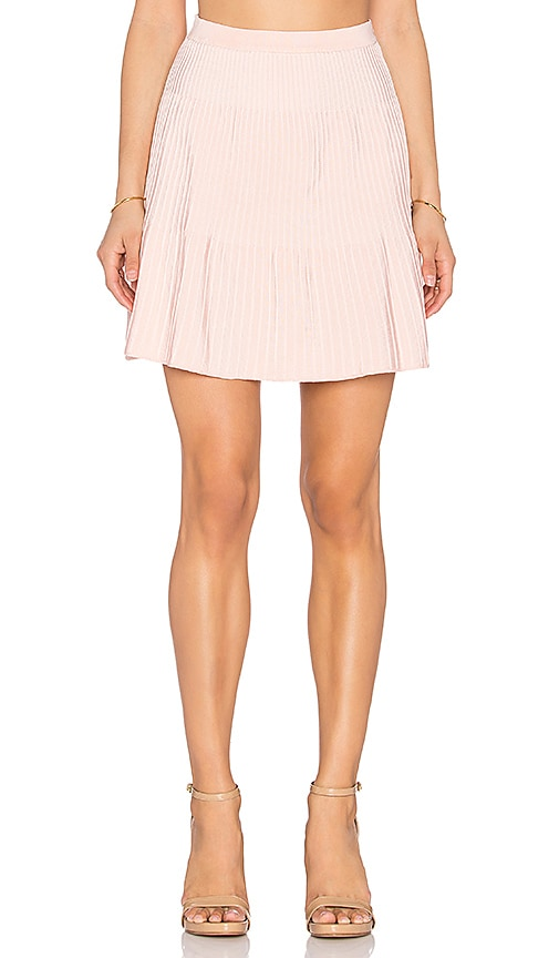 EGREY Ribbed Mini Skirt in Pink