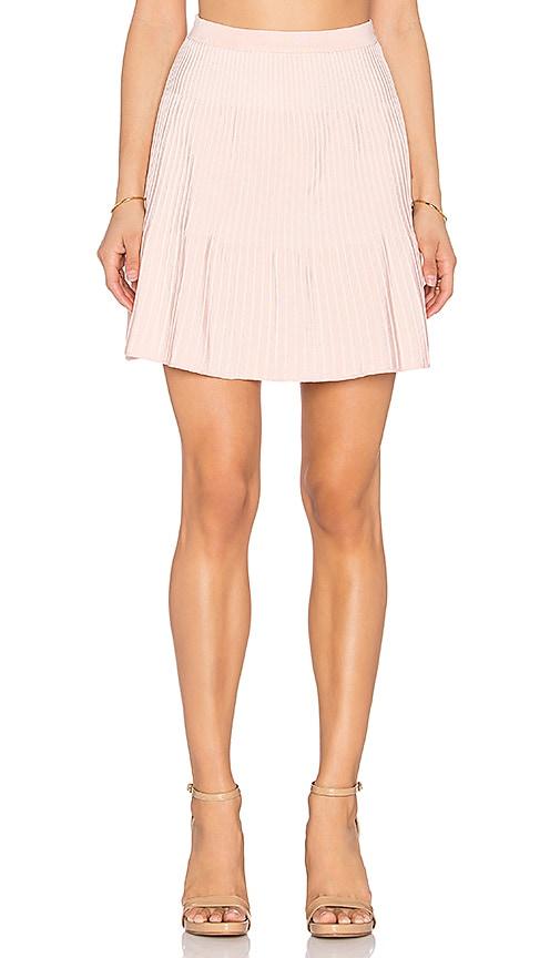 EGREY Ribbed Mini Skirt in Light Pink