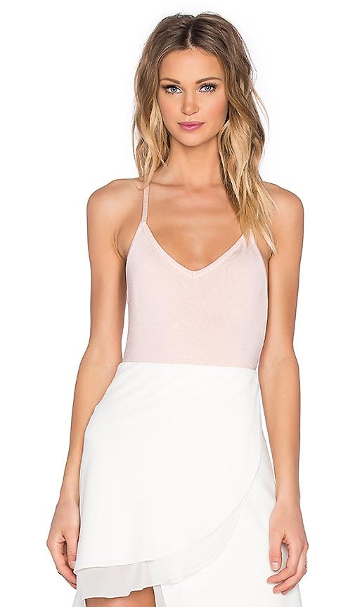 EGREY Strappy Bodysuit in Light Pink