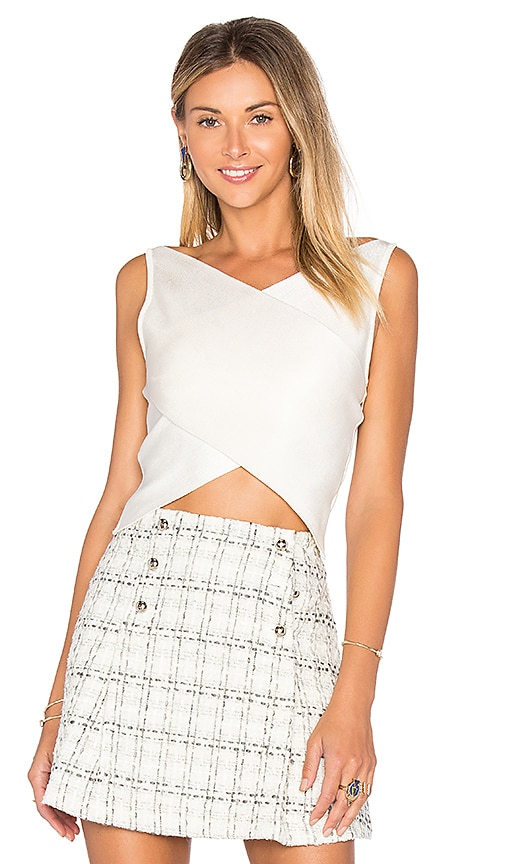 EGREY Cecilia Crop Top in White