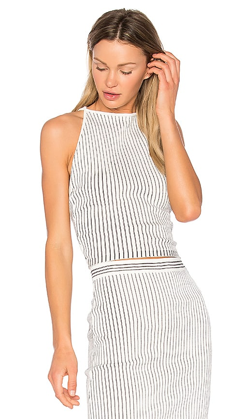 EGREY Striped Cami in White
