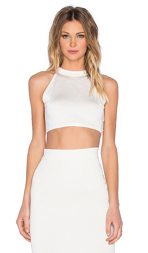 EGREY American Crop Top in Off White