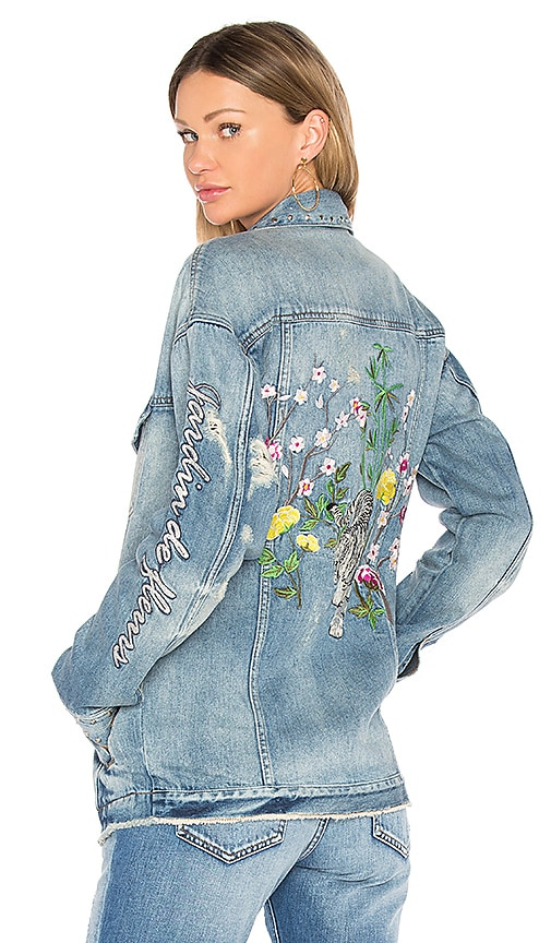 Embellished Oversized Denim Jacket