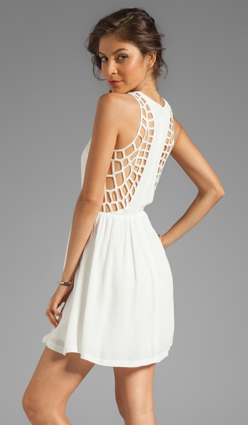 Spider Web Back Gauze Dress