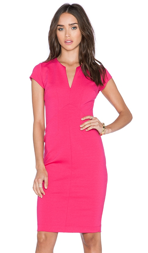 Eight Sixty Eight Sixty Deep V Dress in Summer Berry