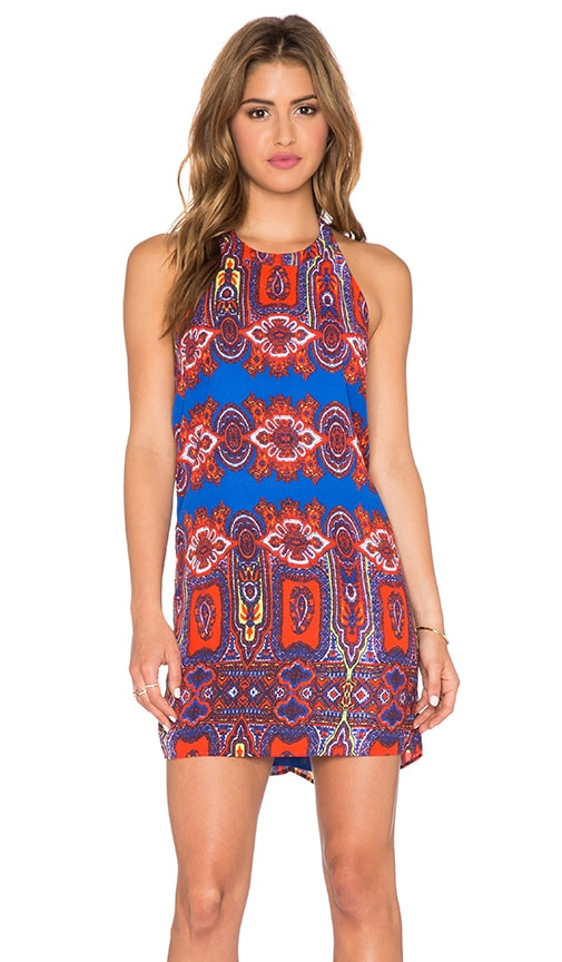 Eight Sixty Cathedral Dress in Cobalt & Orange