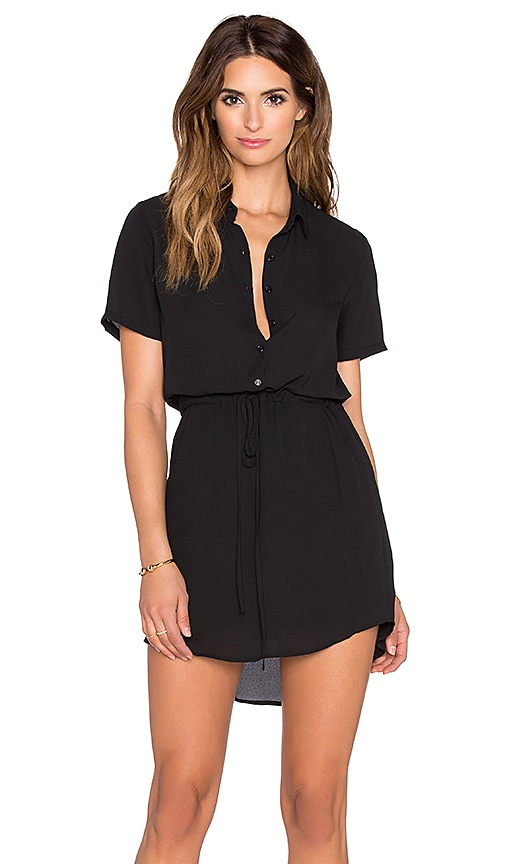 Eight Sixty Shirt Dress in Black