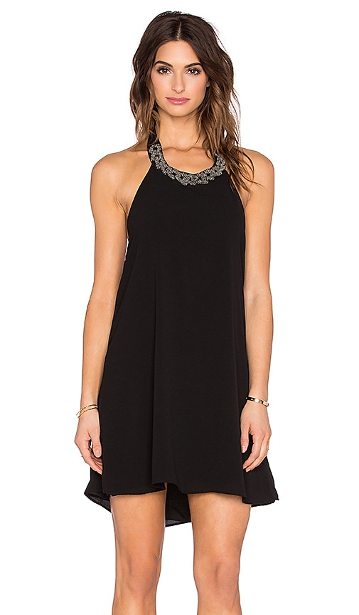 Eight Sixty Embellished Braided Mini Dress in Black