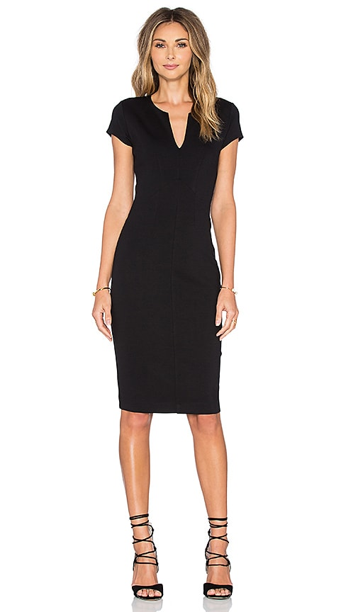 Eight Sixty Short Sleeve Midi Dress in Black