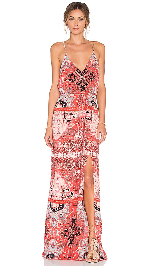 Eight Sixty Moroccan Maxi Dress in Red & Coral | REVOLVE