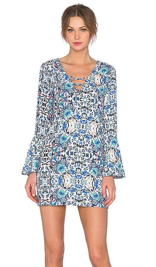 Eight Sixty Broken Bloom Dress in Blue & Multi
