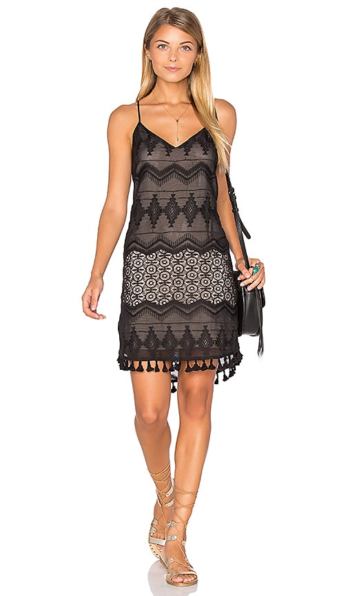 Eight Sixty Crochet Dress in Black