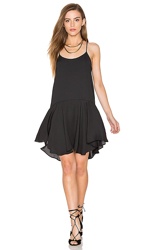 Eight Sixty Sleeveless Drop Waist Mini Dress in Black