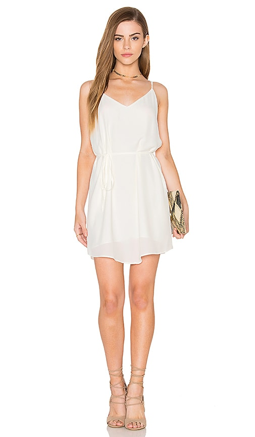 Eight Sixty Tied Waist Tank Dress in White