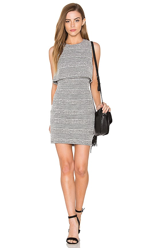 Eight Sixty Knit Cutout Dress in White & Black