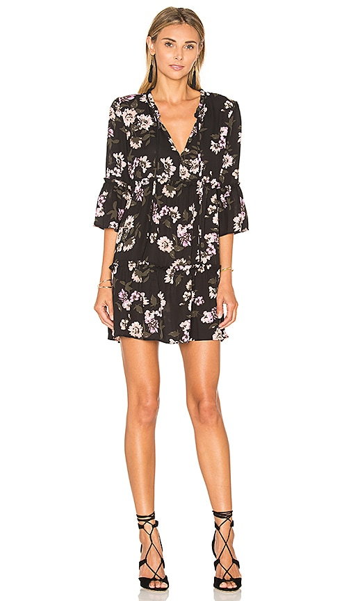 Eight Sixty Peach Blossom Dress in Black